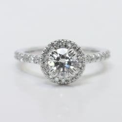 Petite Halo Diamond Engagement Ring | Other Recently Purchased Rings