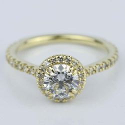 Petite Halo Round Cut Diamond Engagement Ring (0.84 ct.) | Other Recently Purchased Rings