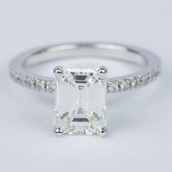 Petite Pave Emerald Diamond Engagement Ring (2 Carat) | Other Recently Purchased Rings