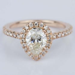 Petite Pear Halo Diamond Engagement Ring (1.10 ct.) | Other Recently Purchased Rings