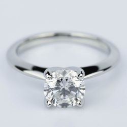Platinum Knife Edge Round Solitaire Engagement Ring (1.30 Carat) | Other Recently Purchased Rings