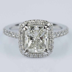 Radiant Halo Diamond Engagement Ring in Platinum (2.25 ct.) | Other Recently Purchased Rings