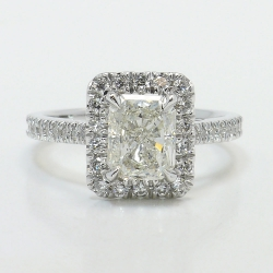 Radiant Halo Engagement Ring | Other Recently Purchased Rings