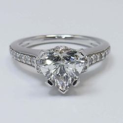 Ribbon Ring with 2.02 Carat Heart Cut Diamond  | Other Recently Purchased Rings