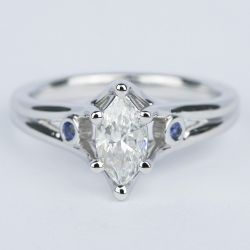 Marquise Diamond Engagement Ring with Sapphire Accents (.70 Carat)   Other Recently Purchased Rings