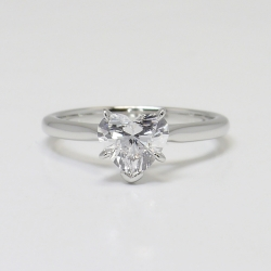 Solitaire 1.02 ctw Heart Ring in Platinum | Other Recently Purchased Rings