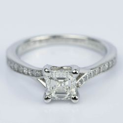Split Shank Micropave Asscher Diamond Ring with Milgrain (0.95 ct.) | Other Recently Purchased Rings