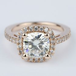 Square Halo Cushion Diamond Ring in Rose Gold (2.50 Carat) | Other Recently Purchased Rings