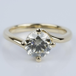 Swirl Style Solitaire Engagement Ring in Yellow Gold (1.60 ct.) | Other Recently Purchased Rings