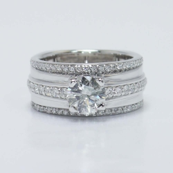 Three Row Pave Diamond Ring | Other Recently Purchased Rings