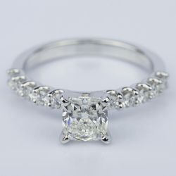 U-Prong Cushion Diamond Engagement Ring in White Gold (1.25 ct.) | Other Recently Purchased Rings