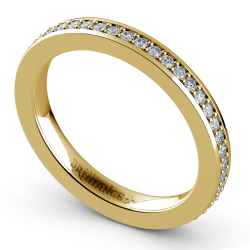 Pave Diamond Eternity Ring in Yellow Gold (1/2 ctw)