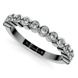 Bezel Diamond Wedding Ring in Palladium
