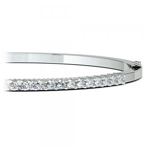 Diamond Bangle Bracelet in White Gold (1 ctw)