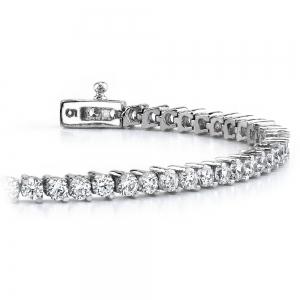 Diamond Illusion Bracelet in White Gold (1 ctw)