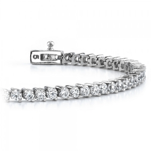 Diamond Illusion Bracelet in White Gold (1 ctw)
