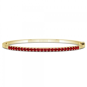 Ruby Bangle Bracelet in Yellow Gold