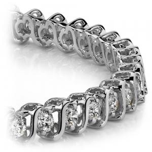 S-Link Diamond Bracelet in White Gold (2 ctw)