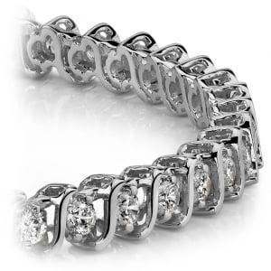 S-Link Diamond Bracelet in White Gold