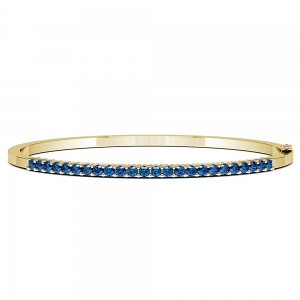 Sapphire Bangle Bracelet in Yellow Gold