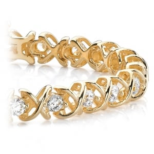 XO Diamond Bracelet in Yellow Gold (1 ctw)