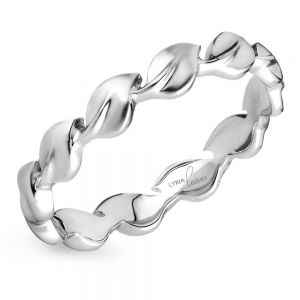 lyria leaves wedding band in white gold by parade