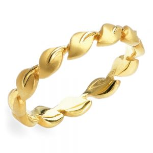 lyria leaves wedding band in yellow gold by parade