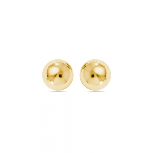 Ball Stud Earrings in Yellow Gold (8 mm) | Featured