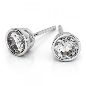 Bezel Earring Settings in Platinum