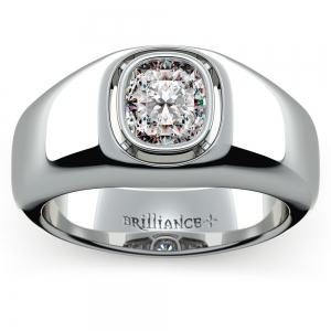 Atlas Cushion Solitaire Mangagement™ Ring (1 1/2 ctw)