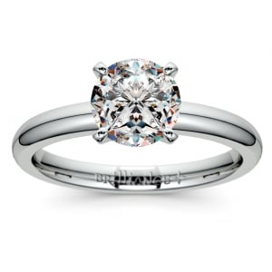 Comfort-Fit Solitaire Engagement Ring in White Gold (2.5mm)