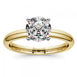 Comfort-Fit Solitaire Engagement Ring in Yellow Gold (2.5mm)