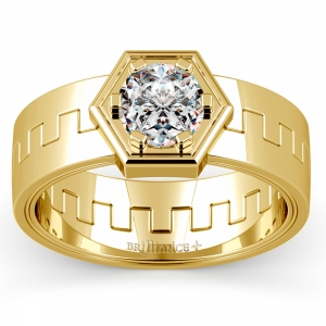 Pollux Solitaire Mangagement™ Ring in Yellow Gold (1 ctw)