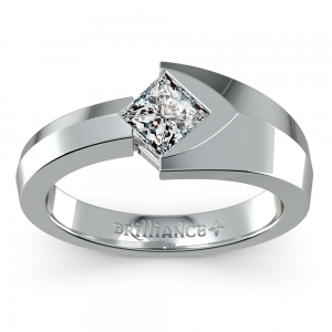 Trident Solitaire Mangagement™ Ring (1 ctw)
