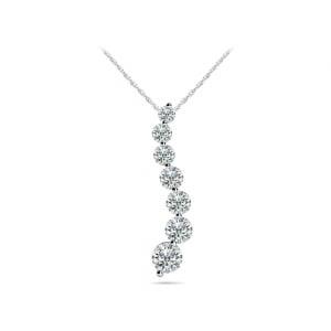 Journey Diamond Pendant in White Gold (1/2 ctw)