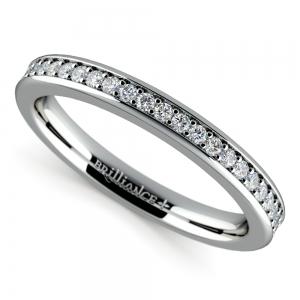 Pave Diamond Wedding Ring in Platinum