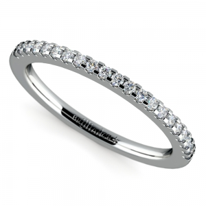 Scallop Diamond Wedding Ring in Platinum (1/4 ctw)