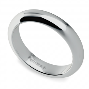 Comfort Fit Wedding Ring in White Gold (4mm)