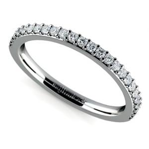 Curved Diamond Wedding Ring in Platinum