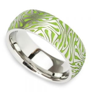 Head Trip - Cobalt Mens Ring with Psychedelic Design