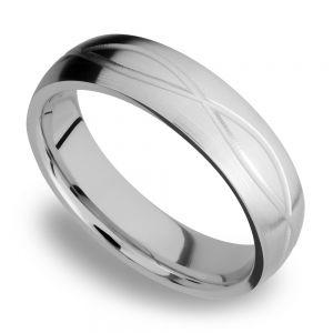 Infinity Pattern Men's Wedding Ring in Titanium