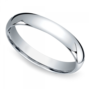 Mid-Weight Men's Wedding Ring in White Gold (4mm)