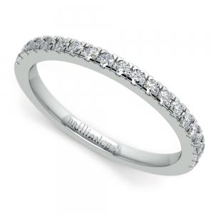 Petite Pave Diamond Wedding Ring in Platinum (1/4 ctw)