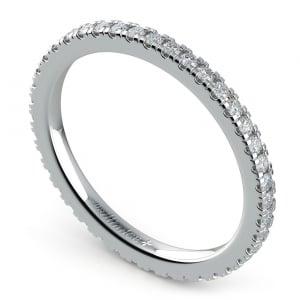 Petite Pave Diamond Eternity Ring in Platinum (1/2 ctw)