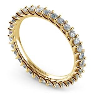 Trellis Diamond Eternity Ring in Yellow Gold