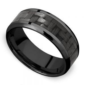 Back in Black - Zirconium & Carbon Fiber Mens Band
