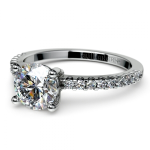 Pave White Gold Preset Engagement Ring