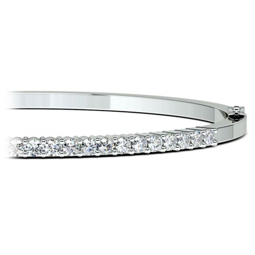 Diamond Bangle Bracelet in White Gold (1 1/2 ctw) | Brilliance.com Top Ten Bracelets #5