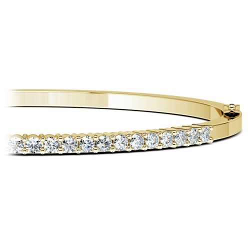 Diamond Bangle Bracelet in Yellow Gold (1 ctw) | Brilliance.com Top Ten Bracelets #2