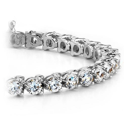 Three Prong Diamond Tennis Bracelet in White Gold (1 ctw) | Brilliance.com Top Ten Bracelets #4